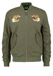 Edwin Flight Souvenir Bomber Jacket Military Green Khaki