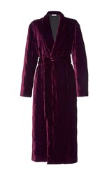 Attico Nora Quilted Velvet Trench Burgundy