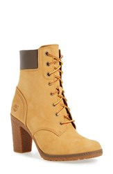 Timberland Women's Earthkeepers 'Glancy 6 Inch' Bootie Wheat Nubuck Leather