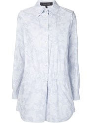 Thakoon Paisley Stripe Playsuit Blue