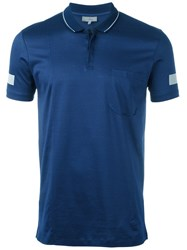 Lanvin Sleeve Stripe Polo Shirt Blue