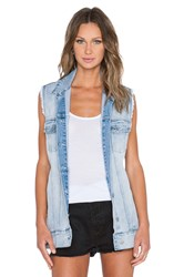 Cheap Monday Slouchy Denim Vest Mile Blue