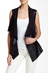 Fate Faux Leather Vest Black