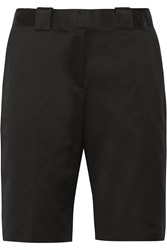 Victoria Beckham Belted Cotton Shorts