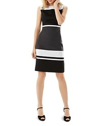 Phase Eight Blanche Color Block Dress Black Charcoal