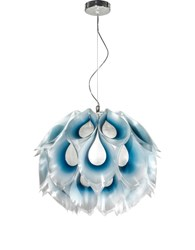 Slamp Flora Pendant Small 14.75 In Diameter Blue