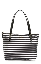 Kate Spade New York Watson Lane Small Maya Nylon Tote Black Black Cream