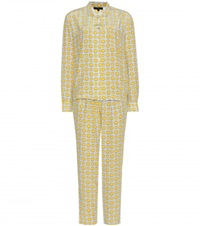 Anya Hindmarch Printed Silk Crepe Pyjama Set Grey