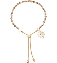 Astley Clarke Four Leaf Clover 18Ct Yellow Gold Plated Friendship Bracelet