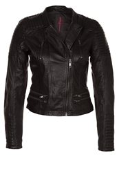 Tom Tailor Denim Leather Jacket Black