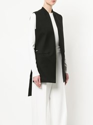 Oyuna High Low Waistcoat Black