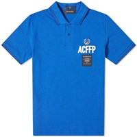 Fred Perry X Art Comes First Embroidered Polo Blue