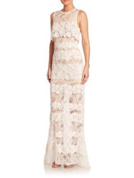 Elie Saab Long Lace Popover Gown