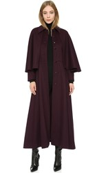Wgaca Ysl Coat With Capelet Previously Owned Burgundy