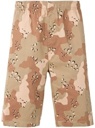 Stussy Camouflage Shorts Men Cotton S Brown