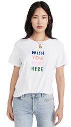 South Parade Wish You Were Here Tee White