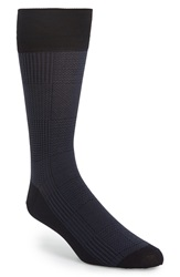 John W. Nordstrom Plaid Socks Navy
