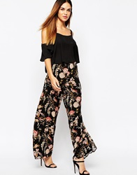 Warehouse 70'S Printed Palazzo Pants Multi