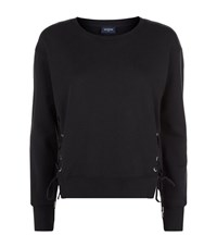 True Religion Lace Up Cropped Sweater Female Black