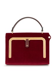 Anya Hindmarch Velvet Mini Postbox Tote Red