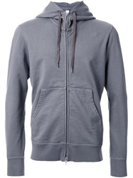 Attachment Zipped Hoodie Grey
