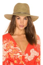 Ale By Alessandra Kenzie Hat Metallic Gold