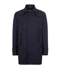 Sandro Driver Hooded Mac Male Blue