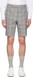 Thom Browne Black And White Gingham Classic Backstrap Shorts
