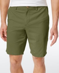 Club Room Men's Cotton Chino Shorts Only At Macy's Martini Olive