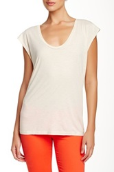 Ag Jeans Sleeveless Scoop Neck Tee White