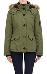 Barneys New York Faux Fur Trimmed Parka Green