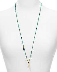 Chan Luu Turquoise Beaded Pendant Necklace 31 Turquoise Mix