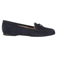 Hobbs Rosa Driver Suede Loafers Navy