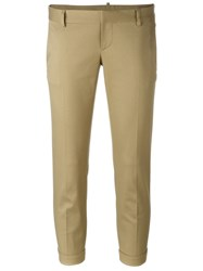 Dsquared2 Skinny Cropped Trousers Nude And Neutrals