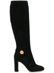 Dolce And Gabbana Vally Mid Calf Boots Black