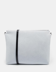 Monki Furia Black Fleece Large Across Body Bag Grey