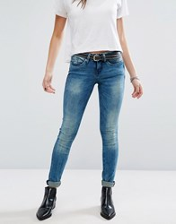 Blend She Carly Skinny Jeans Blue Spot Denim