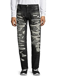Cult Of Individuality Straight Fit Cotton Jeans Black