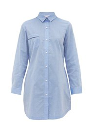Derek Rose Amalfi Cotton Nightshirt Light Blue