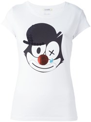 Iceberg Felix The Cat Print T Shirt White