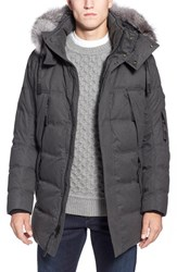 Andrew Marc New York Men's Andrew Marc 'Haydon' Quilted Down Parka With Genuine Fox Fur Trim