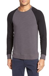 Jason Scott Men's Colorblock Raglan T Shirt Slate Black
