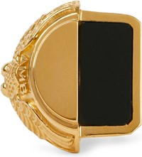 Ambush Misfit College Sterling Silver And Onyx Ring Gold