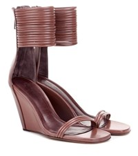 Rick Owens Leather Sandals Brown