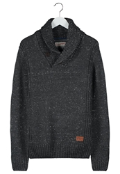 Petrol Industries Jumper Steel Melange Mottled Dark Grey