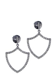 Jade Jagger Insignia Renaissance Sheild Earrings Silver