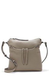 Vince Camuto Staja Leather Crossbody Bag Grey Tranquility