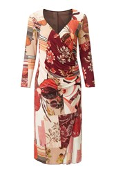 James Lakeland Rose Print Dress Rose