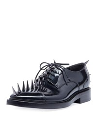 Balenciaga Spiked Lace Up Derby Shoes Black