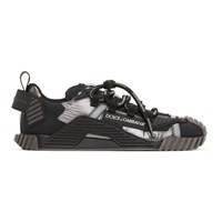 Dolce And Gabbana Silver Black Ns1 Sneakers